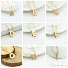 gold necklace with letters images 26 letters alphabet personalized charm pendant necklace women jpg