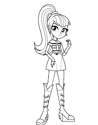 equestria girls coloring pages sonata dusk coloringstar