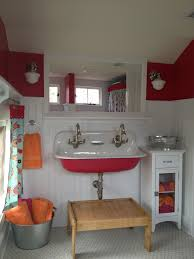cast iron trough sink the girls bathroom reveal simply natural mom