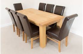 oak dining room table and chairs oak dining room sets of