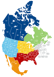 Canada Provinces Map C H Express Inc Info Freight Transportation North America