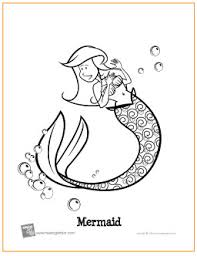 mermaid free printable coloring