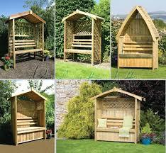 patio ideas garden arbour seat pergola trellis wood arch bench