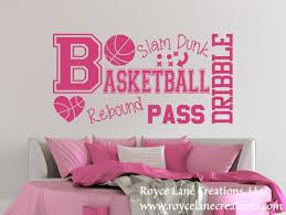 basketball word art wall decal b31 girls basketball wall decal