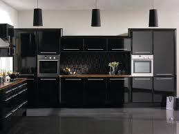 kitchen white walls cabinets high gloss black kitchen cabinets with white wall kitchen ideas