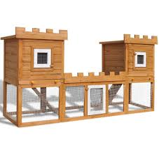 Large Rabbit Hutch With Run Large Rabbit Hutch Outdoor Small Animal Guinea Pig Pet Cage