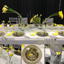 modern centerpieces design inspiration modern yellow centerpiece fiftyflowers the