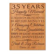 25 year anniversary gift ideas for anniversary gifts for parents 35th 35 wedding anniversary gift ideas