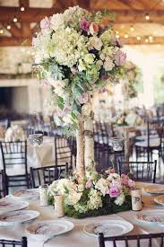 tree centerpieces beautiful blooms birch tree centerpieces