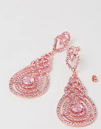 pink earrings izoa nouveau earrings gold pink