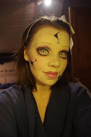 Baby Doll Halloween Costume Ideas 25 Cracked Doll Makeup Ideas Scary Doll