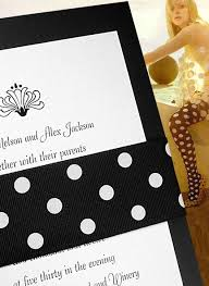 polka dot wedding invitations black invitation ideas for weddings and special events