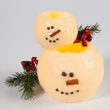 stackable snowman candles winter home decor