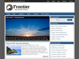 frontier u2014 free wordpress themes