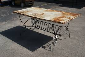incredible metal patina dining table omero home
