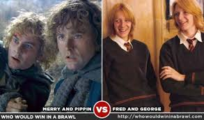 merry and pippin vs fred and george who would win in a brawl