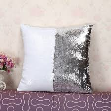 Home Decor Cushions Wholesale Double Sided Sequins Throw Pillows Continental Mermaid