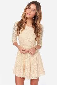 cream color lace dress in oscar fashion review u2013 fashion gossip