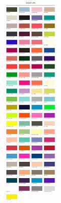 list of colours color chart