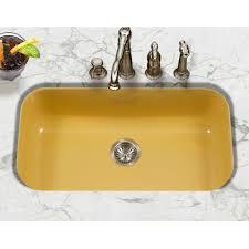 Houzer Porcela  X  Porcelain Enamel Steel Gourmet - Enamel kitchen sink