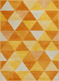 Orange Modern Rug Alvin Orange Modern Geometric Rug Well Woven