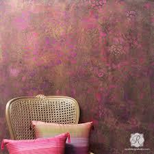Floral Wall Stencils For Bedrooms Wall Stencils Popular Designer Stencils For Diy Home Decor