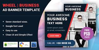 cool wheel small business html five animated google banner ad