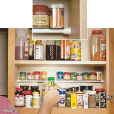 spice cabinets for kitchen 27 incredible kitchen storage tips and tricks family handyman
