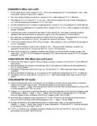 combined u0026 ideal gas laws 12th higher ed worksheet lesson planet
