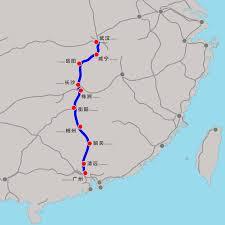 Guangzhou China Map by Wuhan U2013guangzhou High Speed Railway Wikipedia