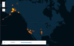 Usgs Real Time Earthquake Map Demonstration Of Cartodb Torque Map Of Usgs M3 0 Earthquakes