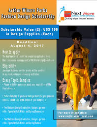 sample of scholarship essay for financial needs fashion design scholarships for students studying in jamaica for this scholarship rachel is looking for a well rounded student who has high academic performance a strong love for fashion design and or tailoring