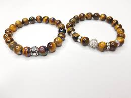 tiger eye jewelry its properties his hers 2 bracelet tiger eye gemstone set dtt by l green