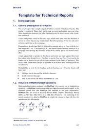 template for technical report technical reporting format fieldstation co