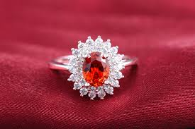 red stones rings images Rings with big red stones 585 white gold color vintage sun flowers jpg