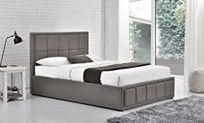 happy beds hannover grey upholstered fabric ottoman storage bed