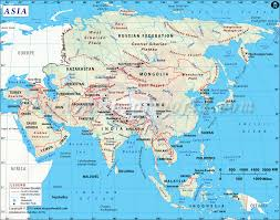 Central Asia Map by Asia Map With Countries Map Of Asia Continent Clickable To Asian