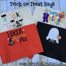 halloween trick or treat bag geminired creations