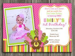 Birthday Invitation Card Design 1st Birthday Invitations Templates Contegri Com