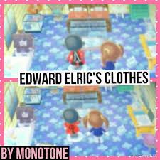 animal crossing new leaf edward elric u0027s clothes fma anime amino
