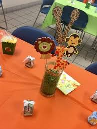 safari party centerpieces jungle animal by lillovebugscreations