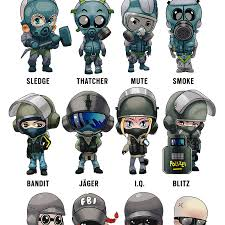 Rainbow Six Siege Operators In Rainbow Six Siege Operator Chibis By Arman Akopian On Artstation