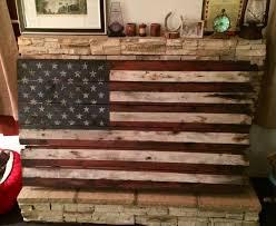Reclaimed Wood Flag Distressed Wood American Flag Creative Green Distressed Wood