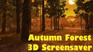 animated thanksgiving screensavers hd autumn forest 3d screensaver u0026 animated wallpaper youtube