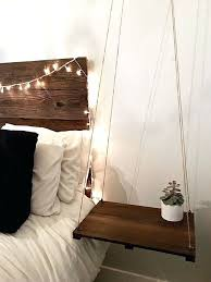 Bedside Table With Lamp Attached Side Table Headboard With Side Tables Attached Headboard With