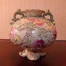 Nippon Hand Painted Vase Green Nippon China U0026 Dinnerware Ebay