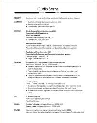 Examples Of College Graduate Resumes by Sample Resume For College Students With No Experience Free