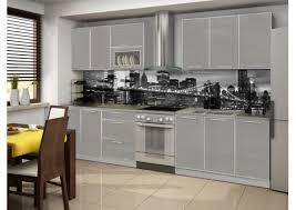cuisine laquee cuisine laquee high gloss rebord aluminium 2m60 la caverne d alibaba