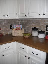 kitchen backsplash makeover glue bead board over current diy