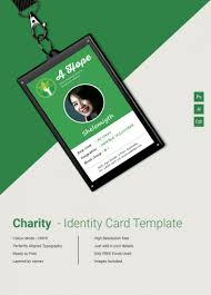 beautiful charity identity card template free premium templates